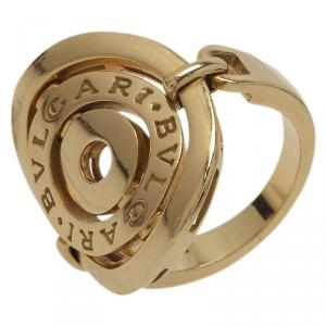 Bvlgari Cerchi Yellow Gold Ring Size 53