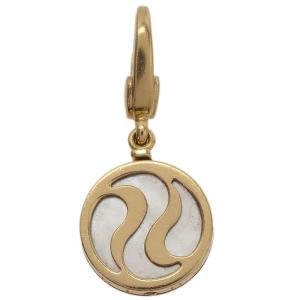 Bvlgari Optical Illusion Mother Of Pearl Yellow Gold Charm