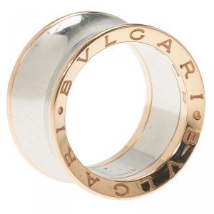 Bvlgari Anish Kapoor B.Zero1 Rose Gold and Steel Ring Size 55