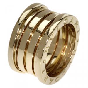 Bvlgari B.Zero1 4-Band Yellow Gold Ring  Size 49