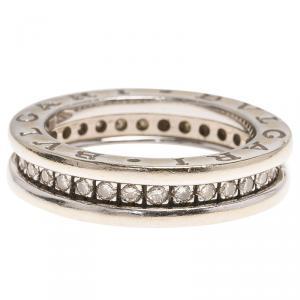 Bvlgari B.Zero1 1-Band Diamond White Gold Band Ring Size 48