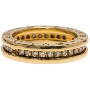 Bvlgari B.Zero1 1-Band Diamond Yellow Gold Ring Size 51