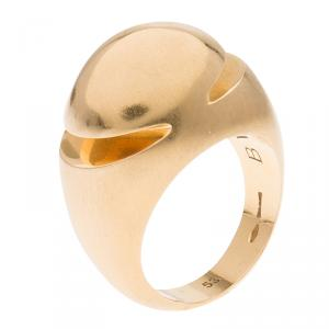 Bvlgari Fancy High Dome Rose Gold Ring Size 53