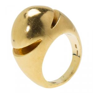 Bvlgari Fancy High Dome Rose Gold Ring Size 52.5