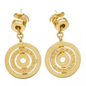 Bvlgari Cerchi Astrale 18k Yellow Gold Drop Earrings