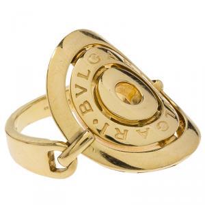 Bvlgari Cerchi 18k Yellow Gold Ring Size 52.5