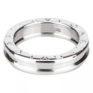 Bvlgari B.zero1 1-Band White Gold Ring Size 54