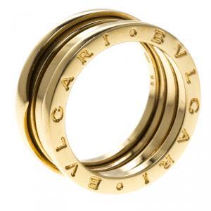 Bvlgari B.Zero1 3-Band Yellow Gold Ring Size 56
