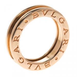 Bvlgari B.Zero1 1-Band 18K Rose Gold Ring Size 47