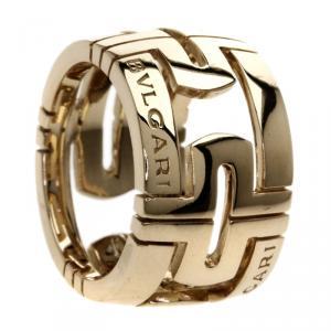Bvlgari Parentesi Yellow Gold Large Band Ring Size 47