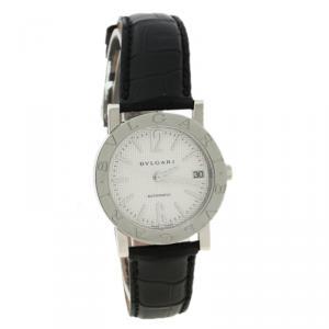 Bvlgari White Stainless Steel BB 38 SL Auto Women's Wristwatch 33MM