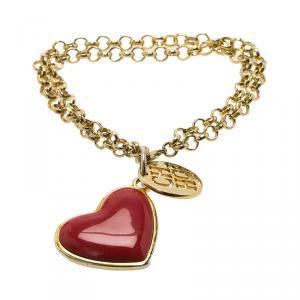 Carolina Herrera Heart Gold-Tone Bracelet 18CM