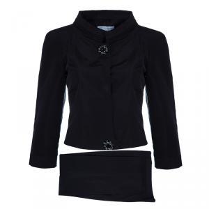Carolina Herrera Black Silk Pant Suit M