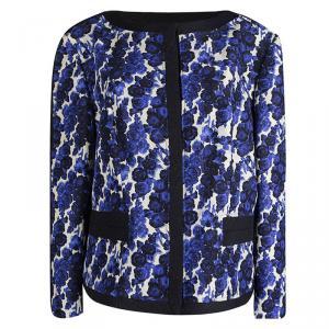 Carolina Herrera Floral Printed Silk Box Jacket XL