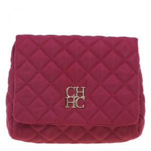 Carolina Herrera Red Quilted Flap Bag