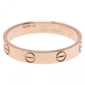 Cartier Love 18K Rose Gold Wedding Band Ring Size 59