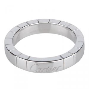 Cartier Lanières White Gold Ring Size 49
