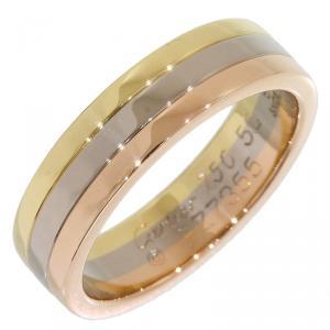 Cartier Trinity 18K 3-Tone Wedding Band Ring Size 50