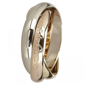 Cartier Trinity 18K 3-Tone Gold Large Model Ring Size 54