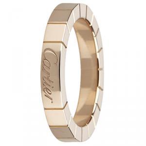 Cartier Lanieres Rose Gold Ring Size 48