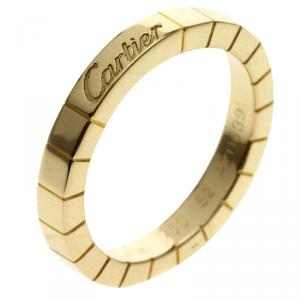 Cartier Lanieres Yellow Gold Ring Size 52