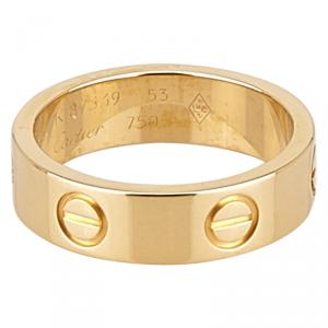 Cartier Love Yellow Gold Ring Size 53