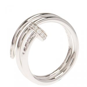 Cartier Juste Un Clou Diamond White Gold Ring Size 48