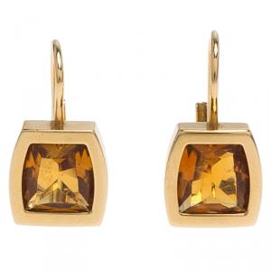 Cartier Citrine Yellow Gold Earrings