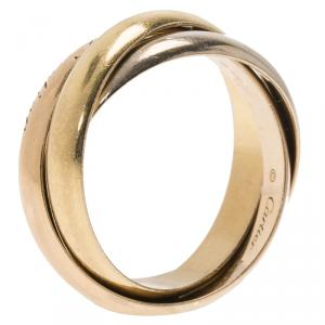 Cartier Trinity 18Kt 3-Tone Gold Ring Size 53
