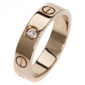 Cartier Love 1 Diamond Rose Gold Wedding Band Ring Size 47
