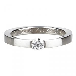 Cartier Solitaire Diamond 0.21 ct  White Gold Ring Size 54