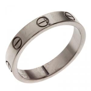 Cartier Love White Gold Wedding Band Ring Size 53