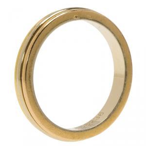 Cartier Trinity Tri-Tone 18K Gold Wedding Band Ring Size 49