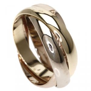 Cartier Trinity 18K 3-Tone Gold Ring Size 48