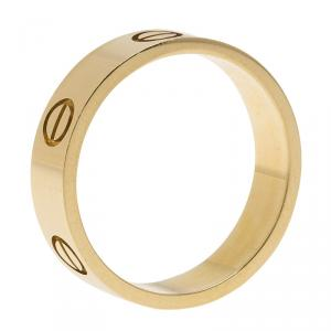 Cartier Love 18kt Yellow Gold Band Ring Size 59