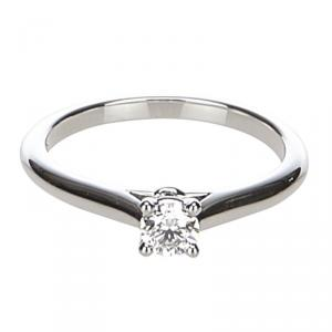 Cartier 1895 Solitaire Diamond Platinum Engagement Ring Size 51
