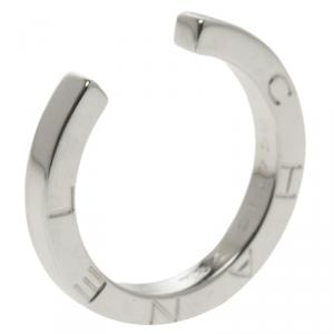 Chanel 18k White Gold Open Style Ring Size 50.5