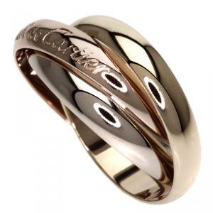Cartier Trinity de Cartier 18K 3-Tone Gold Band Ring Size 49