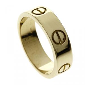 Cartier Love Yellow Gold Ring Size 52