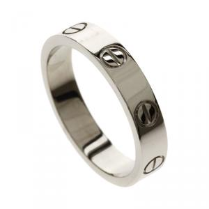 Cartier Love White Gold Wedding Band Ring Size 50