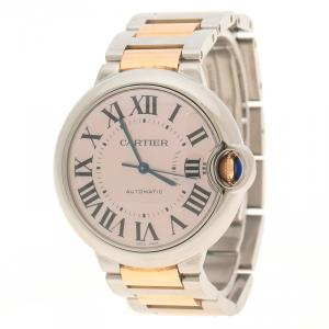 Cartier Mother of Pearl Stainless Steel Ballon Bleu De Cartier Women's Wristwatch 36 mm