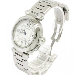 Cartier White Stainless Steel Pasha C Women's Wristwatch 35MM