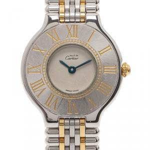 Cartier Grey Stainless Steel Must 21 Women's Wristwatch 28MM