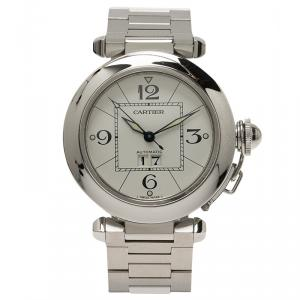 Cartier White Stainless Steel Pasha C Unisex Wristwatch 36MM