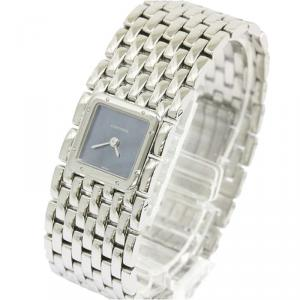 Cartier Blue Mother of Pearl Stainless Steel Panthere Women's Wristwatch 21MM
