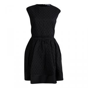 Carven Black Textured Sleeveless Dress L