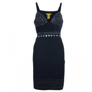 Catherine Malandrino Black Embellished Mini Dress L