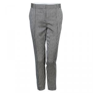 Celine Monochrome Striped Trousers S