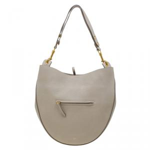 Celine Beige Leather Medium Hobo