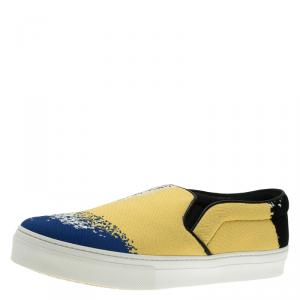 Celine Multicolor Canvas Skate Slip On Sneakers Size 40